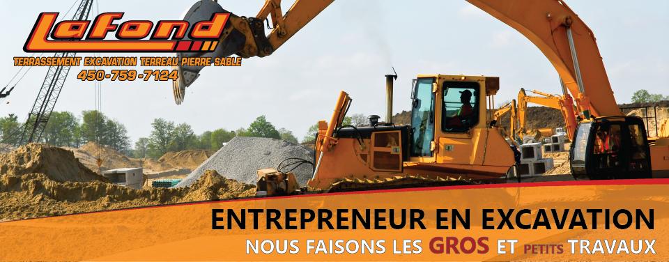 Slide entrepreneur en excavation | Les entreprises Lafond